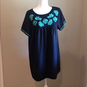 Umgee Navy embroidered dress